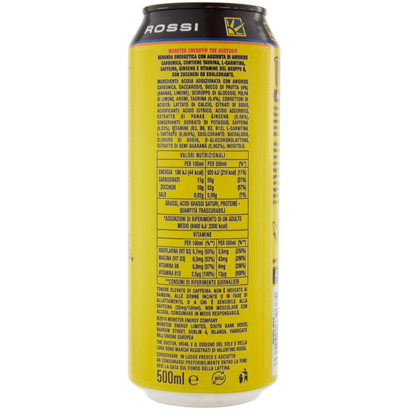 Monster Energy The Doctor VR46 Bevanda Energetica - Lattina, 500 ml